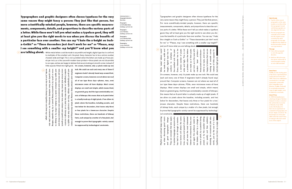 Explorations in Typography / About the book
